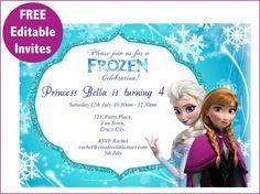 frozen printables free | Free Frozen invite-01                                                                                                                                                                                 More