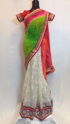 Bandhani/Net Beautiful Saree