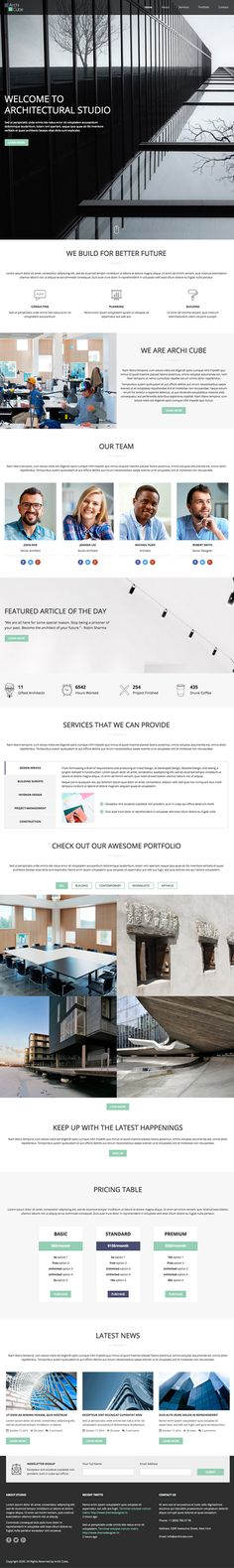 Architecture One Page Website Template