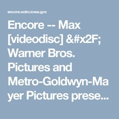 Encore -- Max [videodisc] / Warner Bros. Pictures and Metro-Goldwyn-Mayer Pictures presents a Sunswept Entertainment production ; produced by Karen Rosenfelt, Ken Blancato ; written by Boaz Yakin & Sheldon Lettich ; directed by Boaz Yakin.