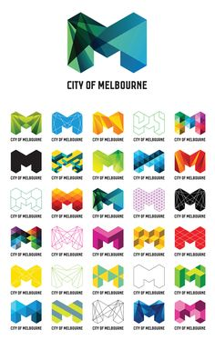 The opportunity for variation is great. It feels like the NYC logo a bit though. Not sure which one was created first...?  City of Melbourne - www.ivanamartinovic.com