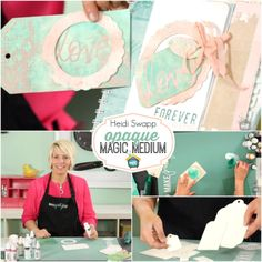 "Heidi Swapp: Opaque Magic Medium - Watch Heidi Swapp today as she shares another one of her new release products, Magic Mediums. There is so much that you can do with this fab stuff and ideas that work SPECIFICALLY with all Heidi's stencils! They can also be mixed with Color Shine to ""tint"" the medium.   http://www.mycraftchannel.com/Shows/Create-to-Remember-with-Heidi-Swapp/Heidi-Swapp-Opaque-Magic-Medium/"