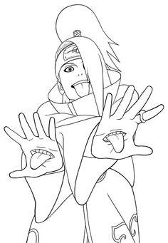 Naruto Coloring Pages Akatsuki