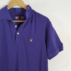 9a72b627b4176 Vintage Fila purple polo Great vintage condition polo shirt - Depop Polo  Shirt