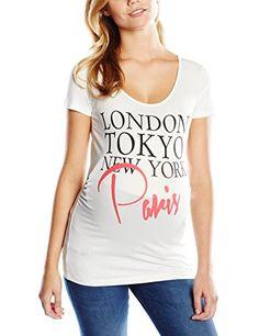 MAMALICIOUS Damen Umstands T-Shirt Mlparisa SS Jersey Top, Weiß (Snow White), 38…