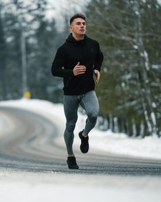 Running Discover Active Dry Compression Pants - Grey Our annual St-Patrick\s day sale starts tomorrow! It\s the best time to get everything you need to enjoy spring. Gym Outfit Men, Men Running Outfit, Gym Workouts For Men, Gym Style, Mens Activewear, Moda Fitness, Running Tights, Gym Wear, Stylish Men