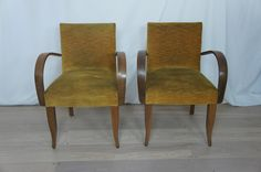 This pair of beautifully elegant bridge chairs are perfect as bedroom chairs, office chairs or dining room chairs.  Ready to reupholster.