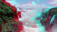 Самый величественный и красивый водопад в мире  3 д (анаглиф) Animated Gifs, 3d Video, 3d Pictures, 3d Photo, Painting, Painting Art, Paintings, Drawings