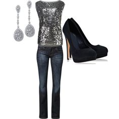 A fashion look from December 2012 featuring Ted Baker tops, CROSS Jeanswear jeans and Timeless pumps. Browse and shop related looks.