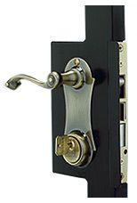 Security Door Knob Set - Polished #1 (Security Storm Door Hardware ...