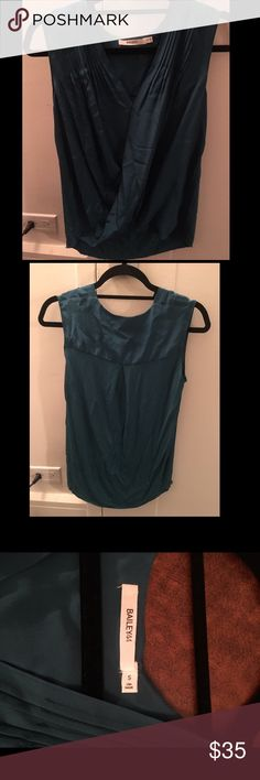 Bailey 44 blue tank Blue, satin shirt - perfect for work or going out Bailey 44 Tops Blouses