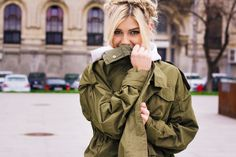 Military Jacket, Street Style, People, Jackets, Fashion, Down Jackets, Moda, Field Jacket, Urban Style