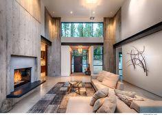 マーチスキャンプ現代の山の邸宅。 クレストウッド建設、トラッキー、CA.