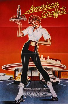 I saw American Graffiti at the drive-in with my best friend.  Fun movie.