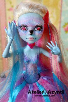 OOAK Custom Monster High Repaint Ava Downy