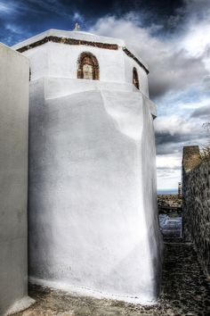 Santorini in the Winter, Pyrgos village