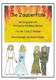 Free: Mozarts Zauberflöte für die Unterstufe The Magic Flute, Music Education, Back To School, Musicals, Classroom, Teaching, Memes, Montessori, Music