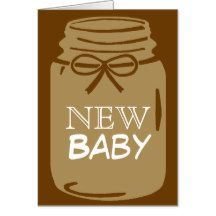 Any Color Mason Jar New Baby Announcement