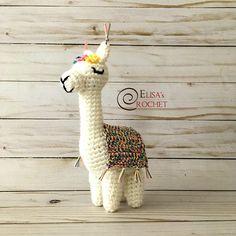 Amigurumi Crochet Doll VIOLET the Alpaca / Stuffed Doll / Lama