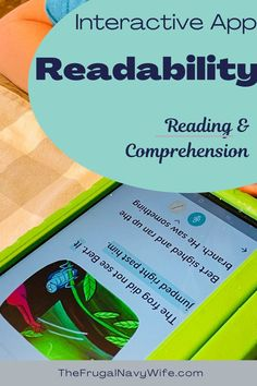 If your child is struggling with reading get your kids started with Readability: The perfect reading and comprehension learning app. #readingapps #frugalnavywife #education #homeschool #reading | Reading Apps for Kids | Homeschool Reading Ideas | Reading Ideas | Reading Apps | Reading and Comprehension App | Kids Education Navy Wife, Comprehension, Curriculum, Child, Kids Education, Learning, Frugal, Homeschooling, Diy Wedding