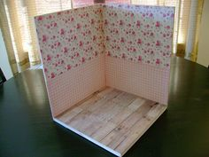 Backdrop corner with scrapbook paper by Wandy in Pensacola, via Flickr