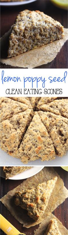 Clean-Eating Lemon Poppy Seed Scones -- so easy, supremely tender & packed with almost 5g of protein!