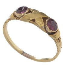 This #unique 18kt yellow #gold #ruby set #Victorian #ring with a X detail center by @turnerandtatler is this weekends go-to accessory! #jewelry #fashion #shop #antique #vintage