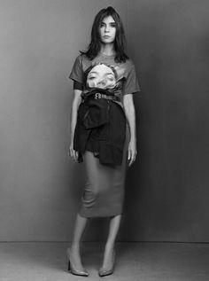 Carine Roitfeld + tee-shirt Kim Kardashian = un duo insolite...