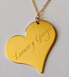 2010354ad078 Collar de corazón personalizado con sus nombres — Capital Vanguardia