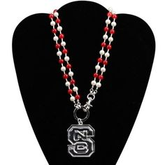 North Carolina State Wolfpack Ladies Logo Double Necklace
