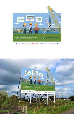 Werk gespot op de Grevelingendam! Het door ons ontworpen bouwbord voor #windparkkrammer valt lekker op!