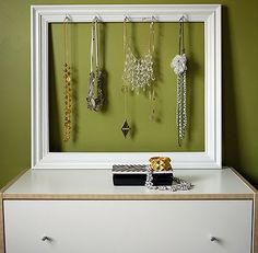 Organizing idea for necklaces, earrings, etc.