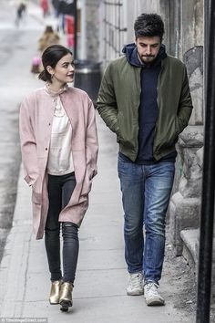 Lucy Hale wearing Zara Faux Suede Coat in Mid-pink Lucy Hale Outfits, Luci Hale, Dakota Johnson Street Style, Aria Montgomery Style, Lucy Hale Style, Olivia Palermo Lookbook, Gold Boots, Pakistani Fashion Casual, Female Fighter