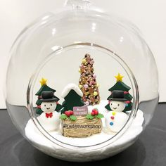 I made an even bigger version of the Cristina's ornament with even more things inside!