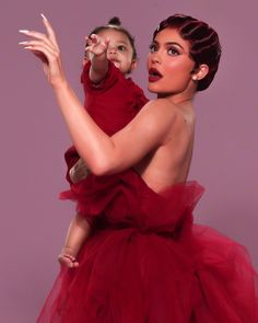 Youngest billionaire, Kylie Jenner and daughter Stormi Webster in gorgeous photoshoot - NaijaDome