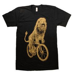 Lion on a Bike Tee Black, $24, now featured on Fab.
