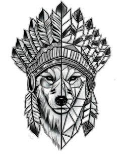 Photo by - tattoo tatuajedelobo tatoowolf tattoowolf tatuajegeomet… - Geometric Wolf Tattoo, Tribal Wolf Tattoo, Wolf Tattoo Design, Tattoo Design Drawings, Wolf Tattoos, Small Tattoo Designs, Animal Tattoos, Body Art Tattoos, Sleeve Tattoos
