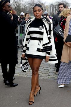 In Praise Of Janelle Monae And Her Clothes At Paris Fashion Week Dope Fashion, Black Women Fashion, White Fashion, Fashion Killa, Paris Fashion, Girl Fashion, Classy Outfits, Beautiful Outfits, Black Sistas