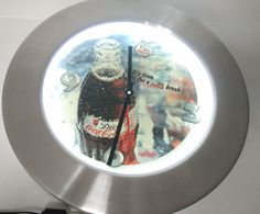 Wall clock coca cola  with light #cocacola