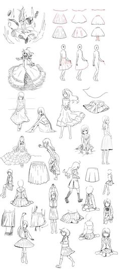 Manga Drawing Tips how to draw skirts - clothing drawing reference Drawing Poses, Manga Drawing, Drawing Tips, Drawing Reference, Drawing Ideas, Dress Drawing, Character Reference, Character Drawing, How To Draw Skirt