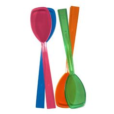 """Party Essentials Hard Plastic 9-1/2"""" Two Piece Serving Utensil Set with Forks/Spoons, Assorted Neon Colors, 2 Set-Count Party Essentials http://smile.amazon.com/dp/B00BPAFUV8/ref=cm_sw_r_pi_dp_k7NYvb176QCAP"""
