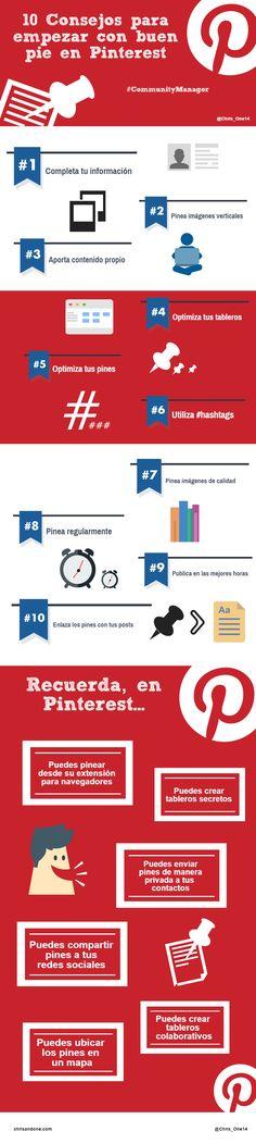 Cómo empezar con buen pie en Pinterest #SocialMedia #Pinterest