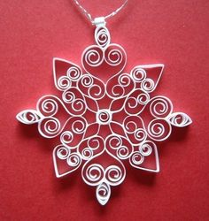 quilled snowflake 2