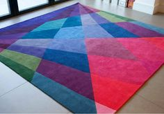 after the rainbow rug by sonya winner Textiles, Textile Patterns, Print Patterns, Contemporary Rugs, Modern Rugs, Tapis Design, Rainbow Shop, Cool Rugs, Rugs In Living Room