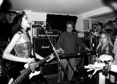 From Bridport bar gigs to glam rock riots and box-based sound sculptures: PJ Harvey - in pictures: Performing in the early 90s at a small bar in her home town of Bridport, Dorset