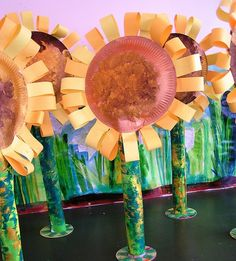 Van Gogh Sunflowers paper sculpture