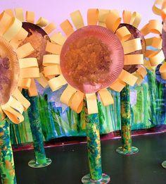 Van Gogh Sunflowers paper sculpture
