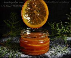 Кандированные апельсиновые дольки.