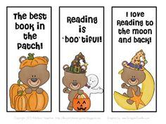 FREE Halloween Teddy Bear Bookmarks for Fall