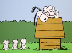 snoopy and the bunnies